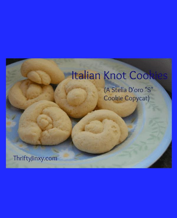 "Italian Knot Cookies - Stella D'oro ""S"" Breakfast Cookie Copycat Recipe"