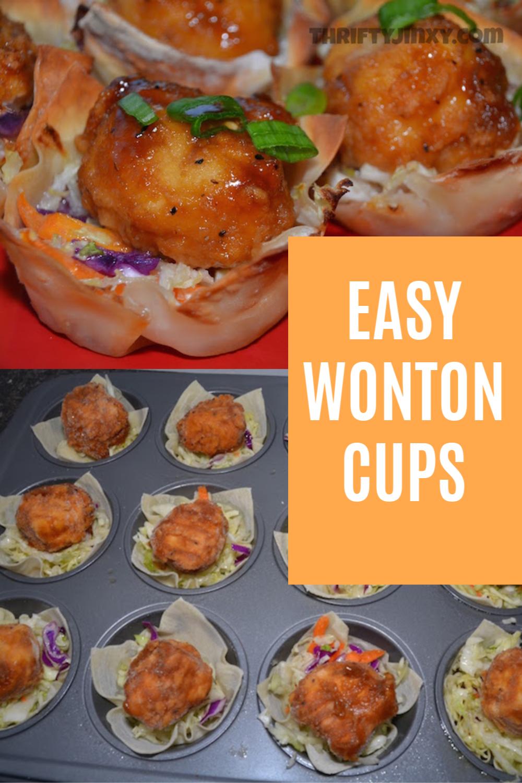 EASY WONTON CUPS RECIPE