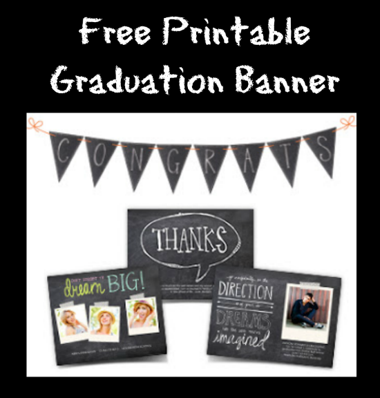 free printable congrats banner to celebrate the graduate thrifty jinxy
