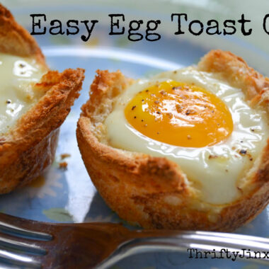 Egg Toast Cups in Muffin Tins