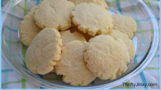 Not Too Sweet Sugar Cookies