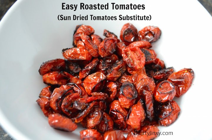 roasted tomatoes in the oven