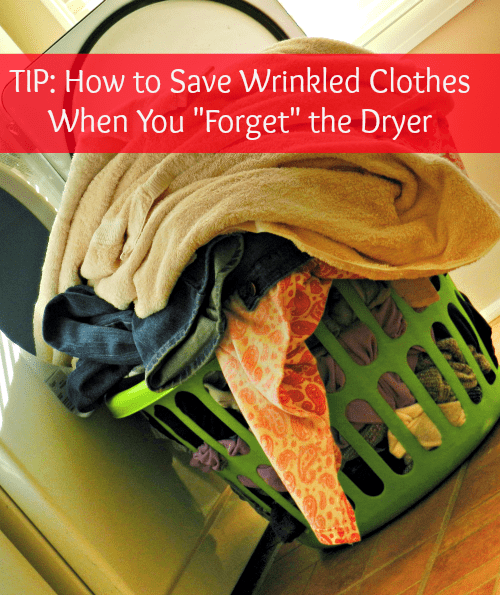 TIP: How to Save Wrinkled Clothes When You FORGET the Dryer