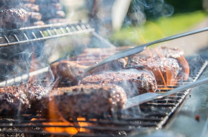 meat on bbq grill