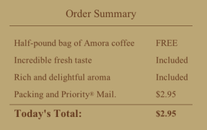Amora Coffee Shipping