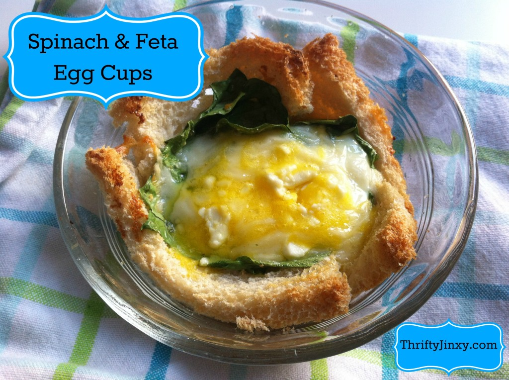Spinach and Feta Egg Toast Cups Recipe – Easy Breakfast  for One or a Crowd