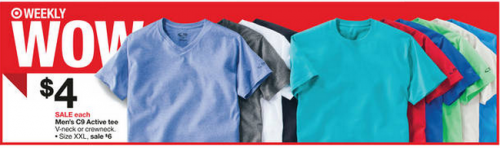 Target: C9 by Champion Men's Athletic T-Shirts only $3.40 with Sale and Cartwheel!