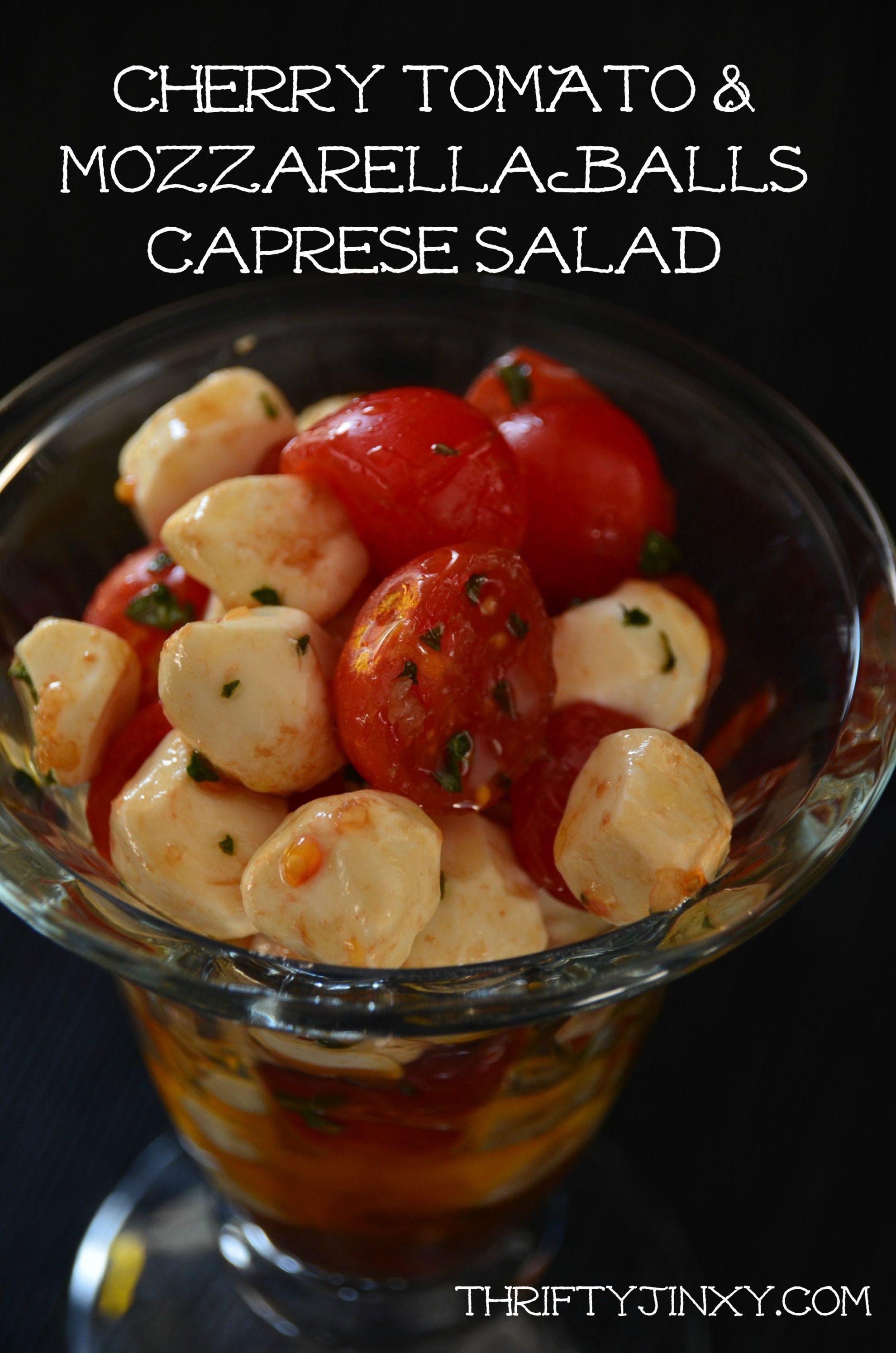 Tomato Mozzarella Balls Caprese Salad