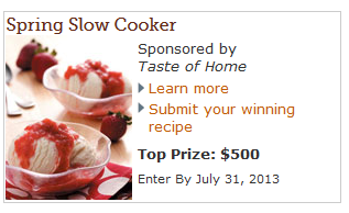 slow cooker recipe contest
