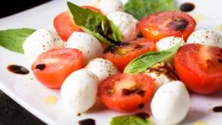 Cherry Tomato and Mozzarella Balls Caprese Salad