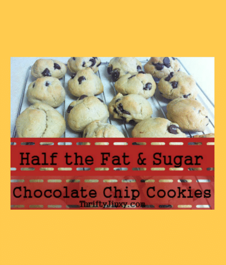 Half the Fat and Sugar Chocolate Chip Cookies