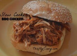 Deeeelicious Easy Slow Cooker BBQ Pulled Chicken Recipe