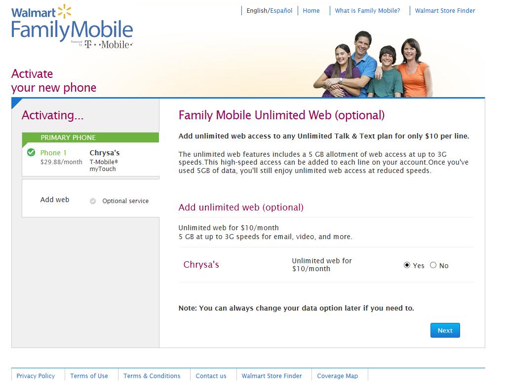 Walmart Family Mobile Activation #shop #FamilyMobileSaves