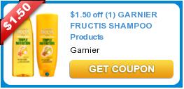 NICE! $1.50/1 Garnier Shampoo Coupon + Target Gift Card Promo = $.32 Each!