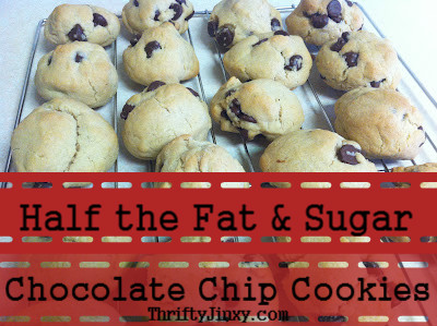 Half the Fat and Sugar Chocolate Chip Cookie Recipe