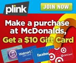 Get $10 Target or Walmart Gift Card with ANY McDonald's Purchase!