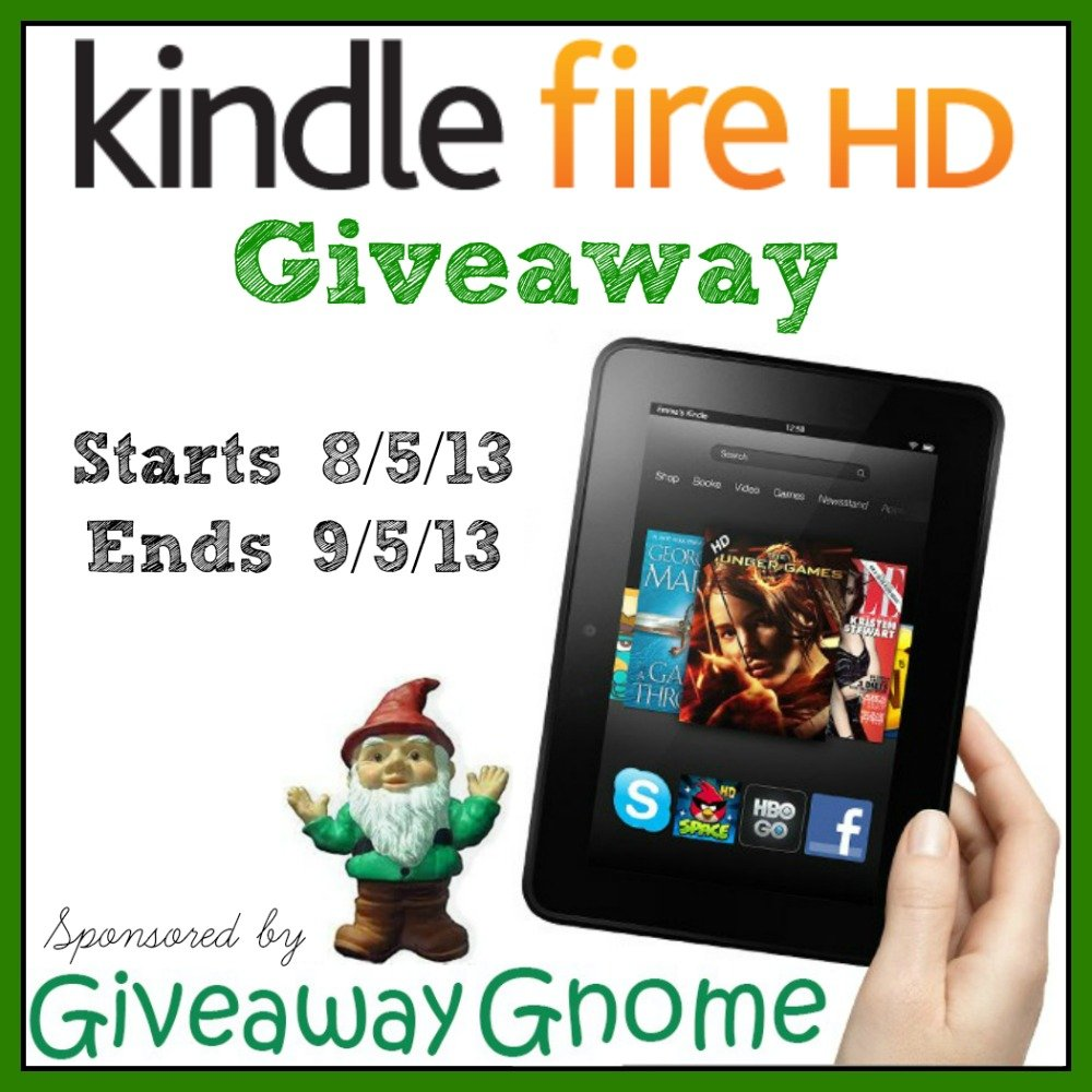 Enter to Win a Kindle Fire HD from Giveaway Gnome