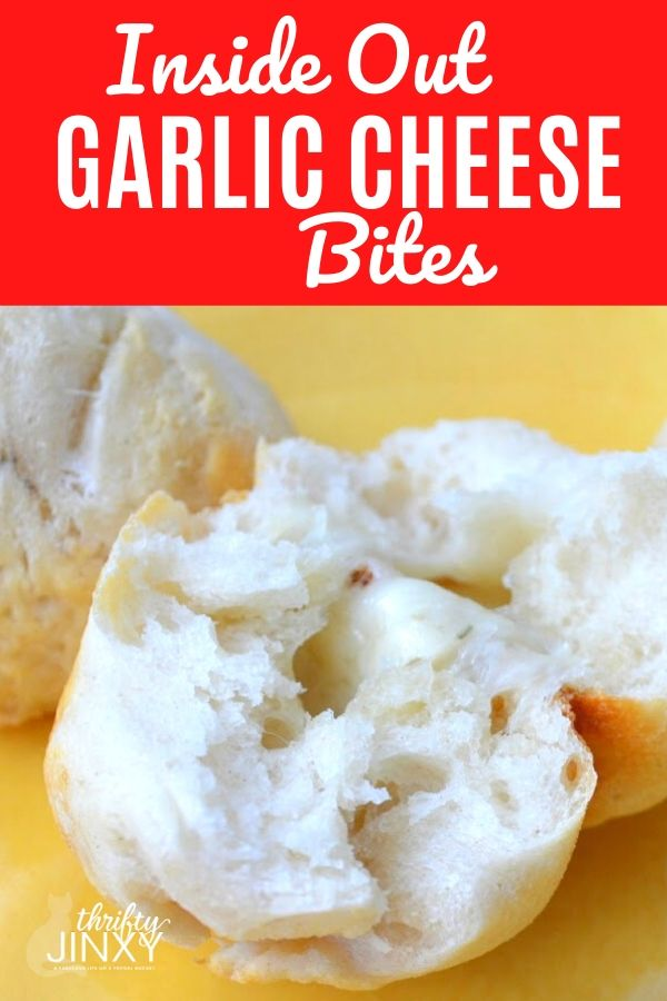 Inside Out Garlic Cheese Bites