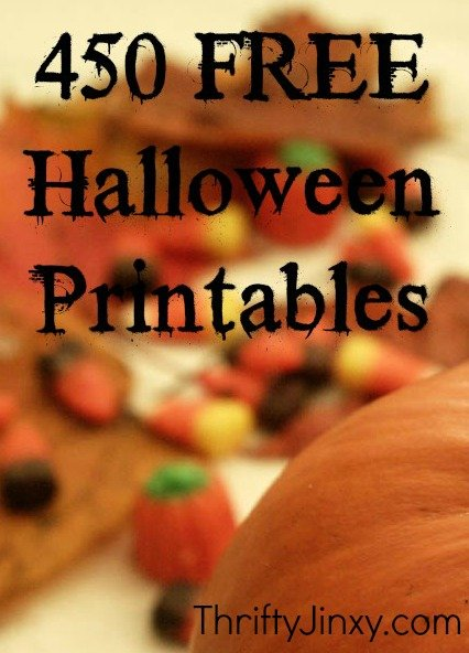 450 FREE Halloween Printables - Activity sheets, pumpkin stencils, party decorations and MORE!