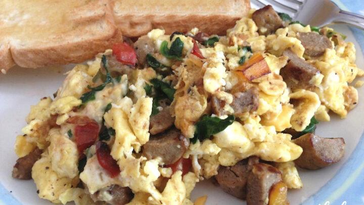 Easy Sausage, Veggie and Egg Scramble Recipe