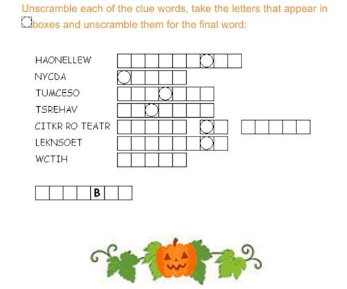 halloween-printable-word-scramble
