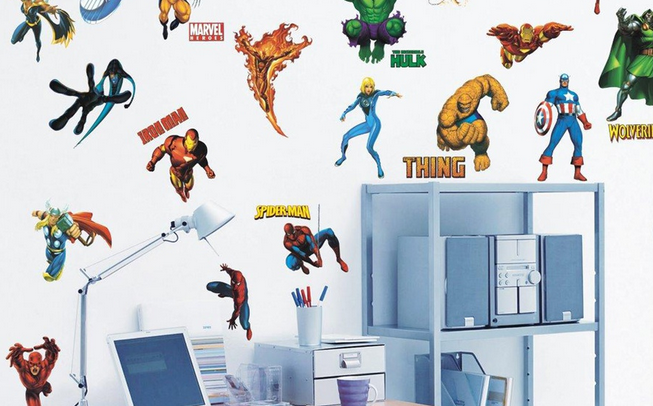 Marvel Heroes Wall Decals