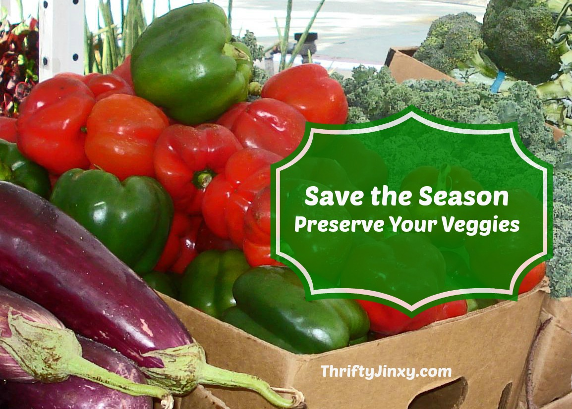 Save the Season and Save Money by Freezing Veggies