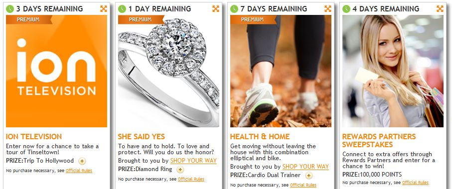 Lots of Prizes Available in Sweepstakes from Shop Your Way – Trips, Jewelry, $5000 Gift Card and More