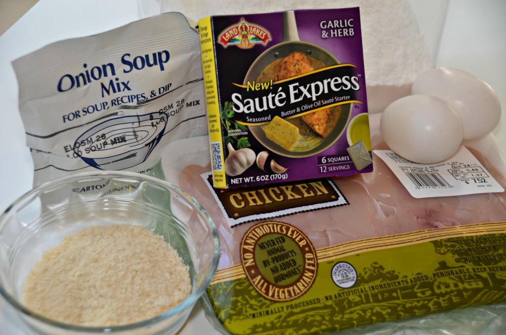 Crispy Onion Chicken Tenders Ingredients