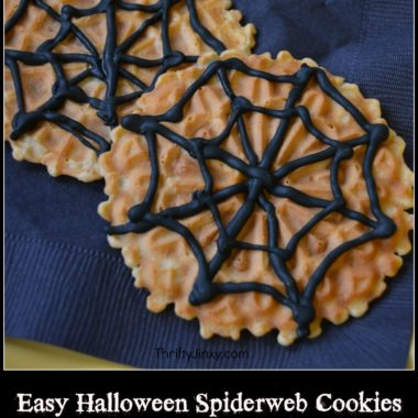 Easy Halloween Spiderweb Cookies