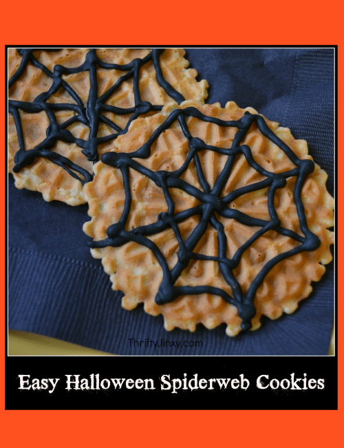 Easy Halloween Spiderweb Cookies
