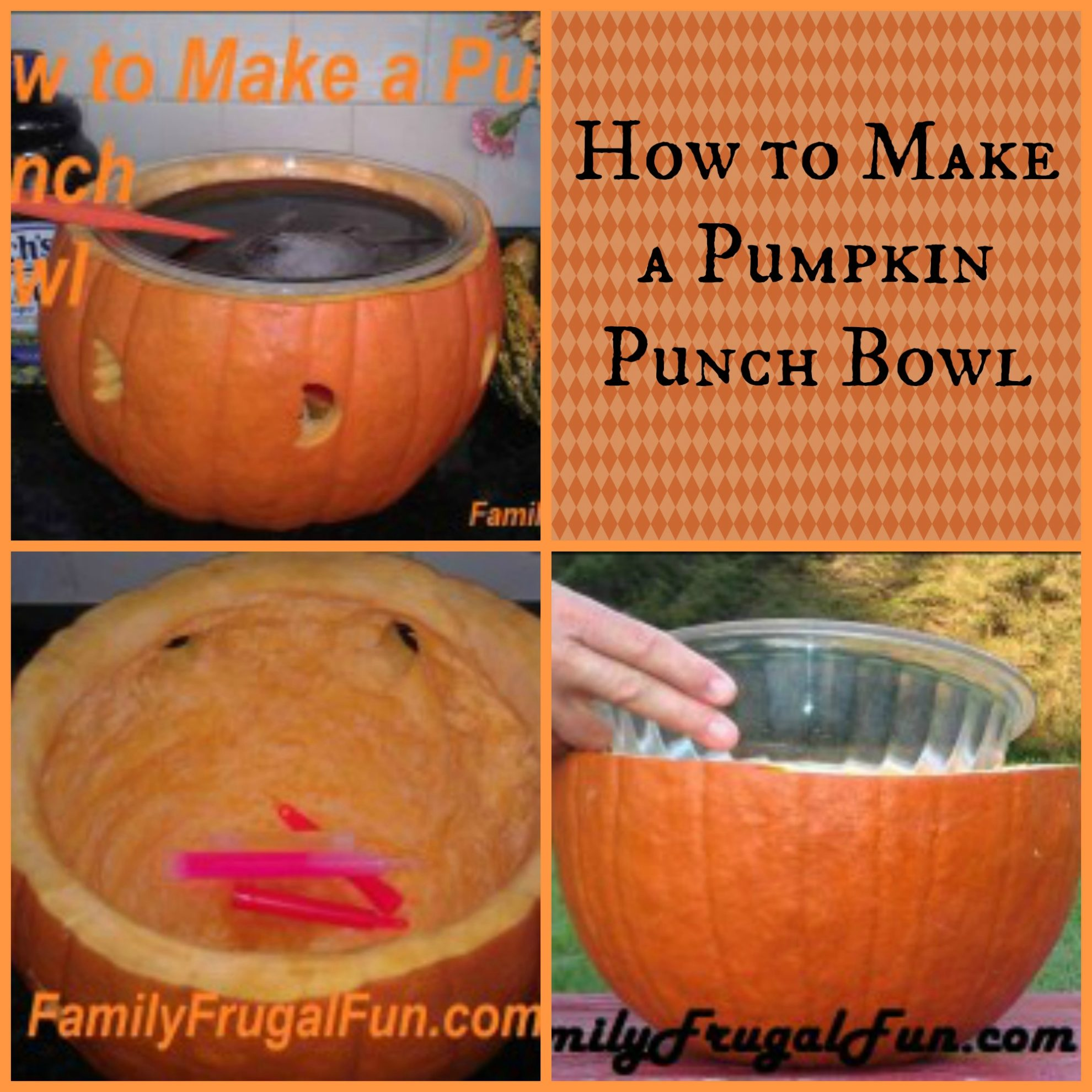 how to make a pumpkin punch bowl - Punch Recipes For Halloween