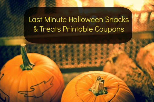 Last Minute Halloween Snacks and Treats Printable Coupons
