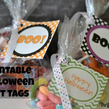 Printable Halloween Gift Bag Tags