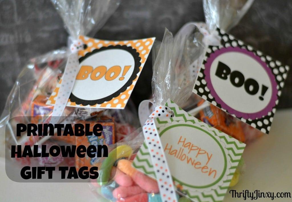 Printable Halloween Gift Bag Tags
