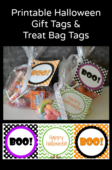 This is a picture of Gratifying Halloween Tags for Goodie Bags