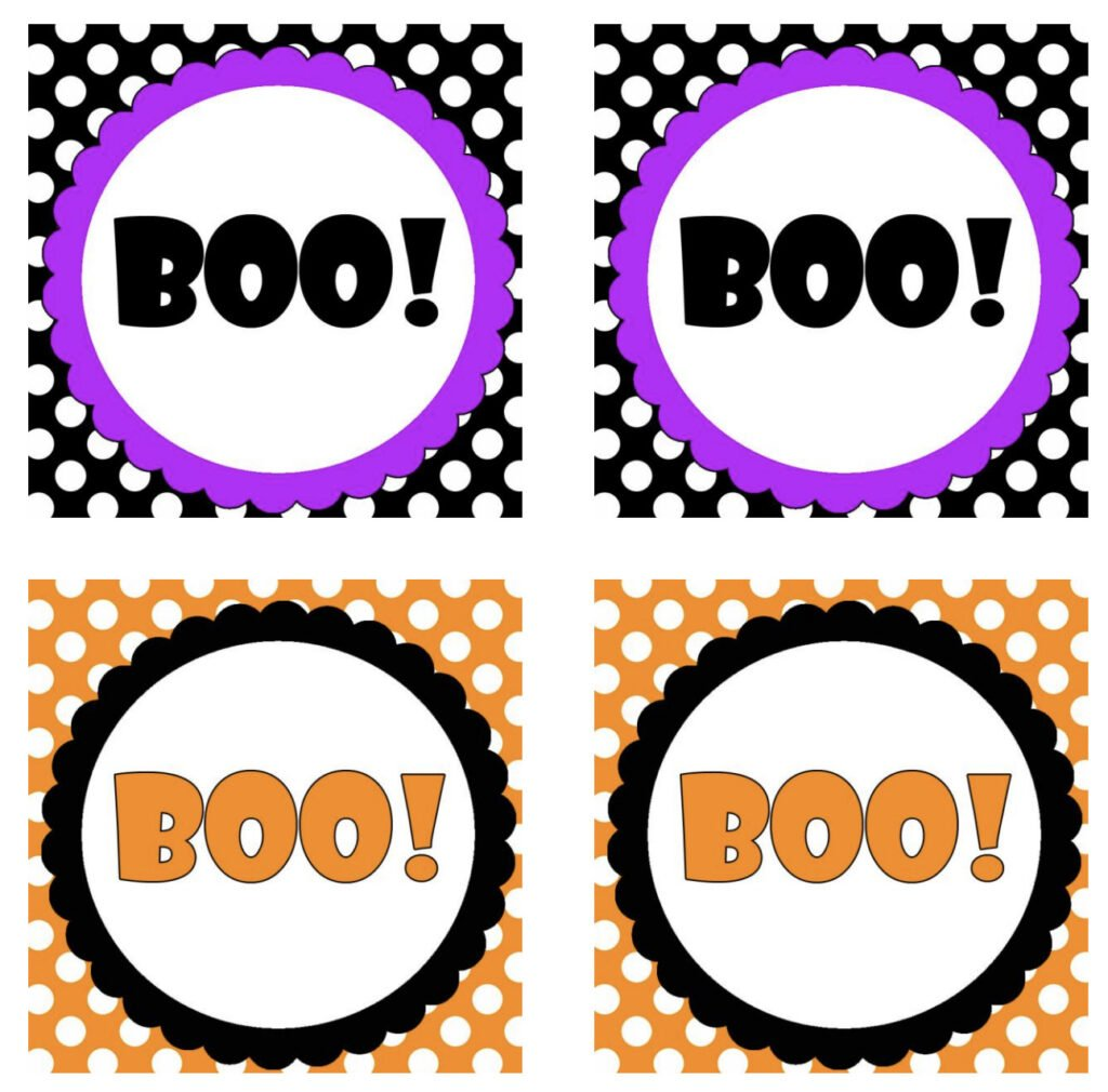 Printable Halloween Treat Bag Tags