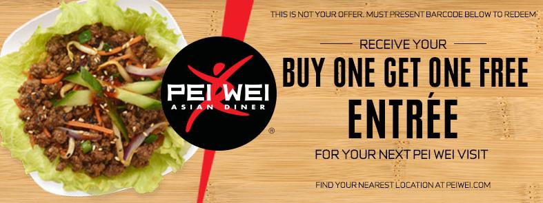 BOGO FREE Entree at Pei Wei Restaurants!