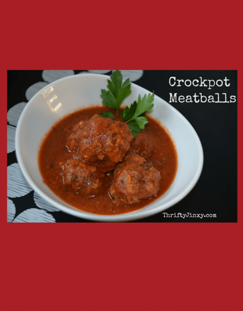 This Easy Crockpot Meatballs Recipe can be prepared in the morning so you come home to a nice hot dinner in the evening.