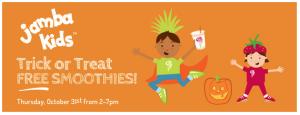 FREE Kid's Smoothies on Halloween at Jamba Juice