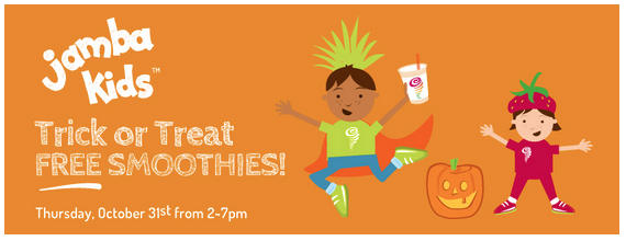FREE Kid's Smoothies on Halloween at Jamba Juice