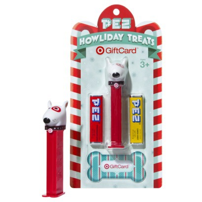 Target Bullseye Pez Dispenser Gift Card for the Holidays