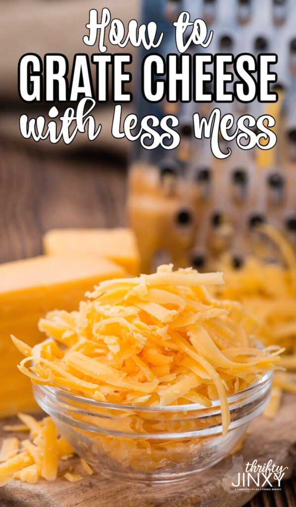 How to Grate Cheese with Less Mess