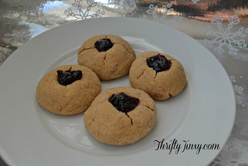 Peanut Butter and Jelly Thumbprint Cookies - Holiday ...