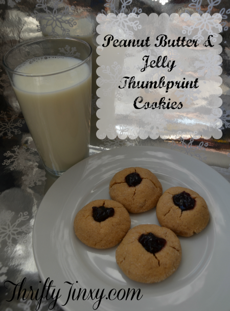 Peanut Butter and Jelly Thumbprint Cookies – Holiday Baking with Pompeian Grapeseed Oil Spray