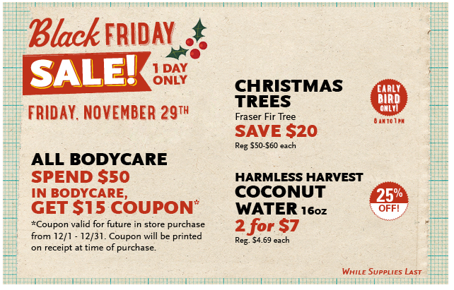 Whole Foods Black Friday Deals