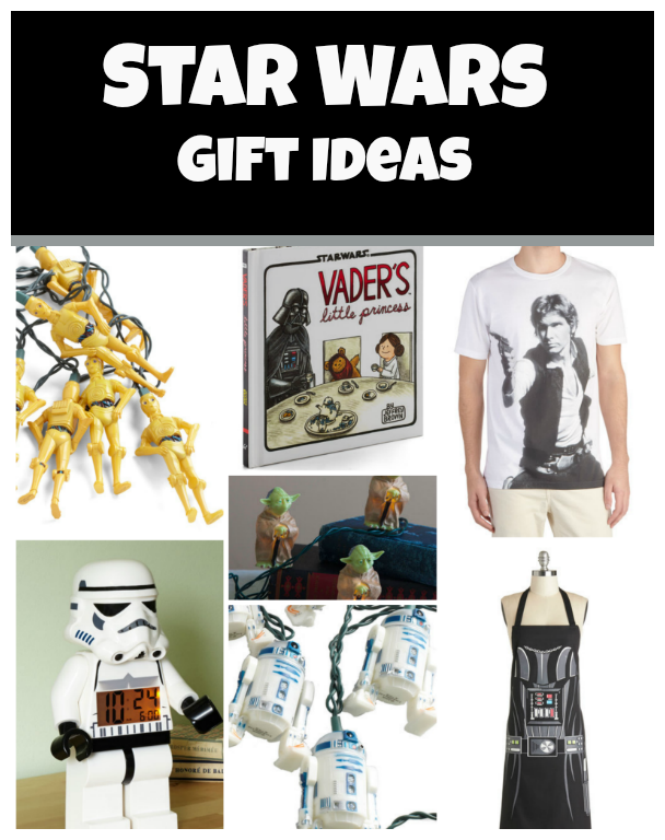 Star Wars Gift Ideas - Fun Gifts for Star Wars Fans Featuring R2D2, Yoda, Darth Vader and More!