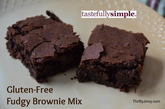 Tastefully Simple Gluten Free Brownies