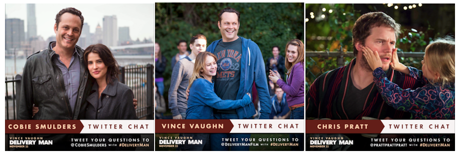Stars of DELIVERY MAN Take to Twitter Tonight – Ask Questions & Have a Chance at Prizes!