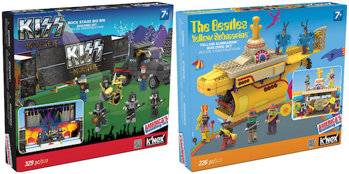 KNEX Building Sets for Grown-Up Music Fans featuring KISS and The Beatles
